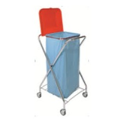 chariot x chrome pliable sac poubelle avec couvercle 110 130l sanital. Black Bedroom Furniture Sets. Home Design Ideas