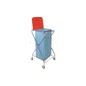CHARIOT X CHROME PLIABLE SAC POUBELLE AVEC COUVERCLE 110/130L